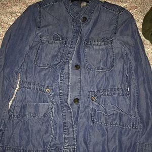 Denim jacket with buttons